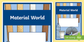 Material World Year 4 Chemical Sciences Editable Book Cover - primary connections, Grade 4, Australian Curriculum chemical science, science journal, science front