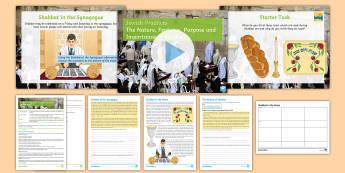Judaism: Shabbat Lesson Pack - Judaism, sabbath, festivals, GCSE, KS4