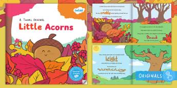 Little Acorns eBook - story, outdoor, life cycle, tree, seasons, acorn, oak, british tree, ks1, reading, book