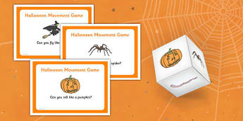 Halloween Movement Game - halloween, autumn, movement game, movement, game, activity, eyfs, early years