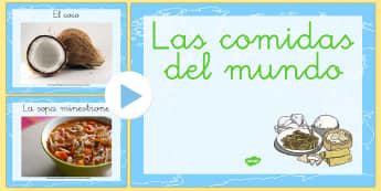 Las comidas del mundo Presentación - comer sano, comida sana, comer saludable, comida saludable, fruta, verdura, dieta saludable, dieta s