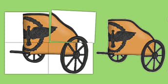 Ancient Greece Greek Chariot Cut Out - ancient greece, greek chariot, cut outs, greek, chariot