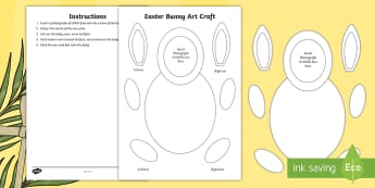 Easter Bunny Paper Craft - ROI Lent/Easter 2017,Irish, paper craft, easter bunny, easter crafts, easter presents, easter displa