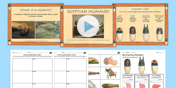 Ancient Egyptian Mummies and Mummification Lesson Teaching Pack