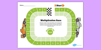 Multiply by 1000 Race Activity - multiply by 1000, race, activity, multiplication