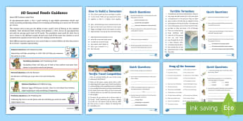 60-Second Reads: Weather and The Seasons Activity Cards - 90 Words A Minute, Ninety Words, Reading, Guidance, Year 2, Y2, One Minute Reading