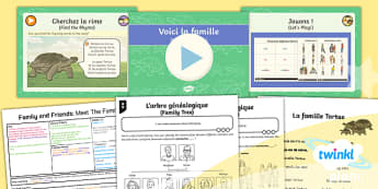 French: Family and Friends: Meet the Family Year 5 Lesson Pack 1