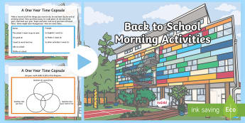 Back To School Morning Activities Upper Primary PowerPoint-Australia - back to school, first week, morning activities, before school, upper primary, year 6, year 5,Austral