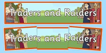Traders and Raiders Display Banner - traders, raiders, display banner, display, banner