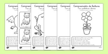 Ficha de comprensión lectora Tres palabras claves