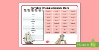 Narrative Adventure Word Mat - Genre, Writing, Literacy, Fiction, Story, English,Australia