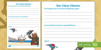 Our Class Charter Pirate-Themed for SEAL Writing Template - Our, Class, Charter, Pirate, Themed, SEAL, Writing, Template