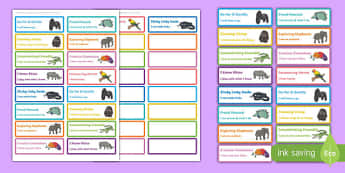 Animal Themed Characteristics of Effective Learning Stickers - animal, characteristics, effective learning, effective, learn, stickers