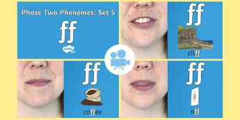 Phase 2 Phonemes : Set 5 'ff' Video - Phonics, Letters and Sounds, Grapheme, pronunciation, b,f,ff,h,l,ll,ss, digraph, double, Twinkl Go, twinkl go, TwinklGo, twinklgo