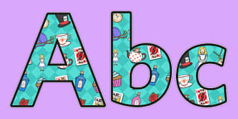Alice in Wonderland Themed Display Lettering Lowercase - display