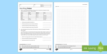 Describing Motion Homework Activity Sheet - Homework, distance, time, speed, distance time graph, plotting data, worksheet, calculating speed, s