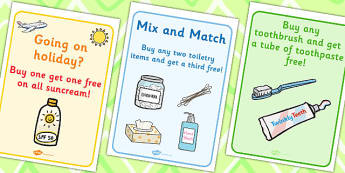 Pharmacy Role Play Posters - doctors, roleplay, props, display