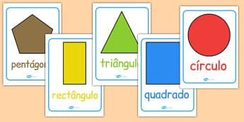 2D Shape Posters Portuguese - portuguese, 2d shape, posters, display, display poster
