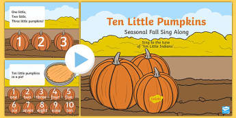 Ten Little Pumpkins Sing Along PowerPoint