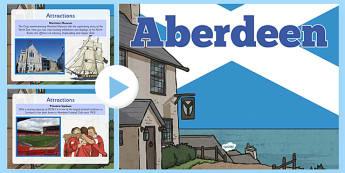 Aberdeen PowerPoint  -  CfE, Social Studies, Towns and Cities, Scottish Cities, Aberdeen