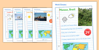 Climates of the World Display Posters - climates of the world display posters, climates of the world, cimates, different, climate, display, poster, sign, world climates, cold, warm, hot, tropical, desert, forest, heat, snow
