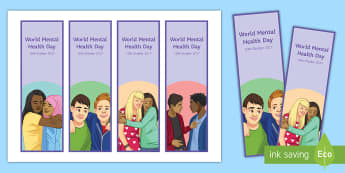 World Mental Health Day 2017 Bookmarks - Mental Health, World mental health day, awareness, counselling, depression
