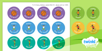 Twinkl Move Daily Challenge Stickers - PE, Sports premium, hop, jump, National Curriculum, Competitive