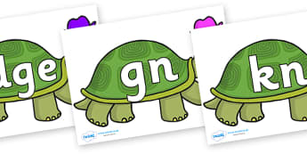 Silent Letters on Tortoise - Silent Letters, silent letter, letter blend, consonant, consonants, digraph, trigraph, A-Z letters, literacy, alphabet, letters, alternative sounds