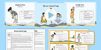 African Animal Yoga Story PowerPoint Pack - yoga story, yoga, story, powerpoint, pack, african animal