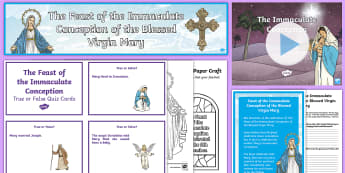Feast of the Immaculate Conception Resource Pack - Mary, Our Lady, Immaculate Mary, Feast Days, Hail Mary,Scottish