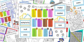 Multiplication Lapbook Creation Pack - multiplication, lapbooks