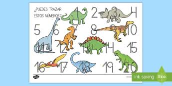Tapiz de formación de números: Los dinosaurios tapiz de formación de letras - Dinosaurios, pre-historia, dinos, tiranosaurio, estegosaurio, triceratops, proyectos, aprendizaje ba