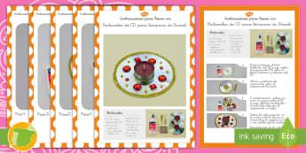 Manualidad: Portavelas de CD - Diwali, Divali, hindú, hinduismo, fiesta, festividad, decoración, decó, artesanías, artesanía,