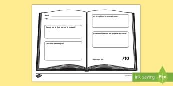 Recenzie de carte Fișă de activitate - scriere, citire, analiză text, comentarii, română,Romanian