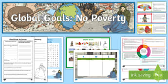 Global Goals No Poverty CfE Second Level IDL and Resource Pack - IDL, 2nd level, global citizenship, global issues, sustainable, Scottish, rights, responsibilities
