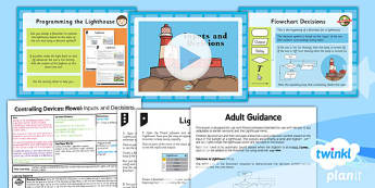 Computing: Controlling Devices Flowol: Inputs and Decisions Year 5 Lesson Pack 4