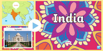India Information PowerPoint - india, india powerpoint, information about india, india information powerpoint, places, around the world, countries, ks2