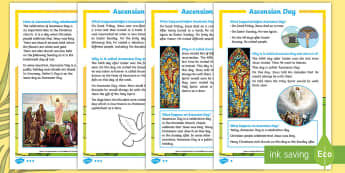 KS1 Ascension Day Differentiated Fact File - KS1, Key Stage One, Year 1, Year 2, Year One, Year Two, Ascension day, (25.5.17), Jesus, Easter, Goo
