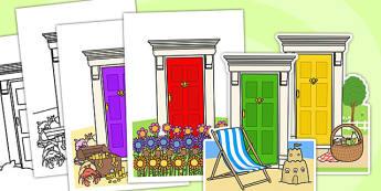 Fairy Door Cut Outs - fary, faries, tradiitonal tales, cut outs