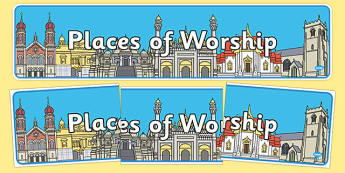Places of Worship Display Banner - places of worship, display banner, banner, banner for display, display, header, display header, header for display, images