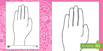 Diwali Hand Outline Activity English/Mandarin Chinese - diwali, hand, outline, festival, mehndi,diva pots, mendi patterns, EAL