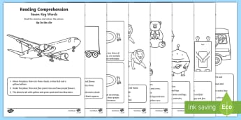 Seven Key Word Reading Comprehension Activity Sheets - key words, ICW, DLS, reading comprehension, attention and listening, worksheets