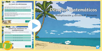 Multiplicación y división - 3º Primaria Presentación - Multiplicación, Multiplicar, división, dividir, matemáticas, desafío, desafíos matemáticos,Spa