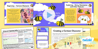 PlanIt - Computing Year 4 - Using and Applying Skills Lesson Pack - cartoon, character, animate, animation, comic strip, project, design