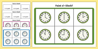 O'clock Times Bingo Welsh - welsh, o'clock, times, bingo, game