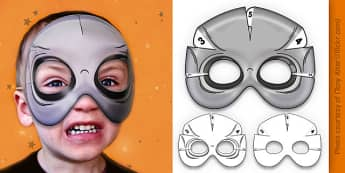 3D Halloween Alien Monster Mask - 3d, halloween, alien, monster, mask
