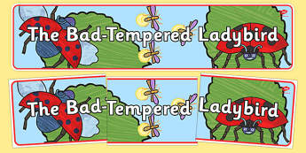 Display Banner to Support Teaching on The Bad Tempered Ladybird - header, story books