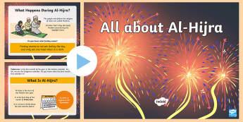 EYFS All about Al-Hijra Information PowerPoint - Muslim, Muhammad,New Year, Prophet, Muharram