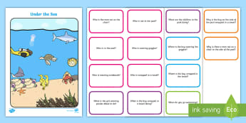 Picture Scene and Question Cards - Wh- questions, questions and answers, asking and answering,