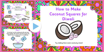 Coconut Ice Squares Diwali PowerPoint - recipes, cooking, cook